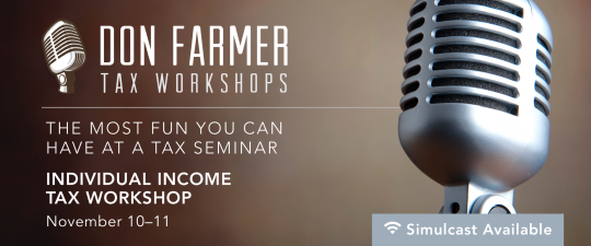 Don Farmer's 2016 Individual Income Tax Workshop