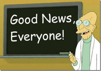Want some good news?