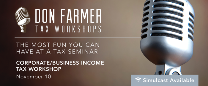 Don Farmer's 2017 Corporate Income Tax Workshop