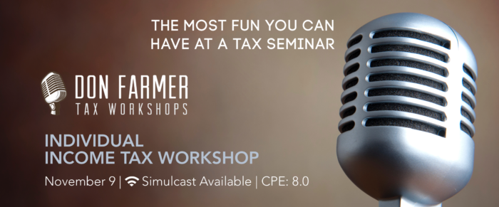 Don Farmer's 2017 Individual Income Tax Workshop