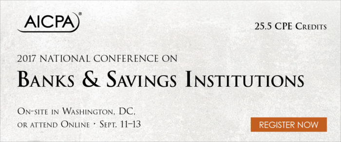 AICPA National Conference on Banks and Savings Institutions