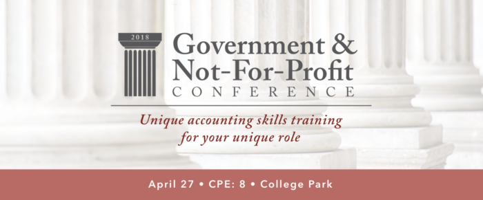 2018 GOVERNMENT AND NOT-FOR-PROFIT CONFERENCE